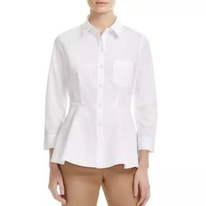 Theory Top Shirt Eyodis Pearce Button Front White